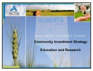 Education and Research guidelines. - Alberta Real Estate Foundation