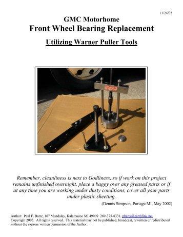 Front Wheel Bearing Replacement Procedures R1 - Bdub.net