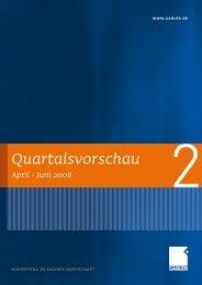 Quartalsvorschau - Springer Gabler