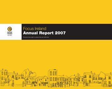Focus Ireland Annual Report 2007