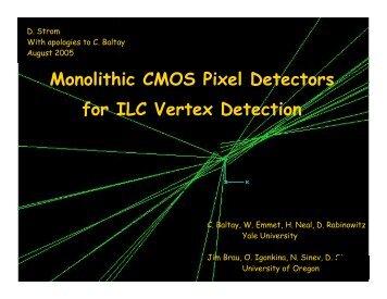 Monolithic CMOS Pixel Detectors for ILC Vertex Detection