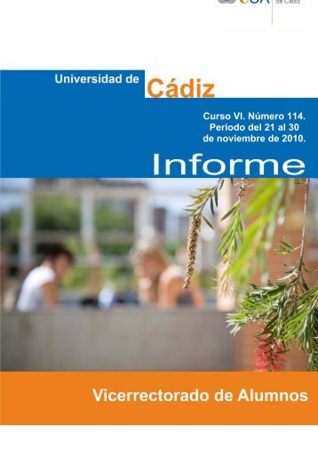 informe 21-30 nov'10 - Universidad de Cádiz