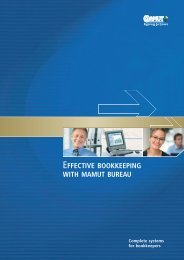 EFFECTIVE BOOKKEEPING WITH MAMUT BUREAU