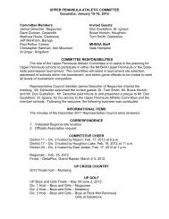 Upper Peninsula Athletic Committee Minutes - Michigan High ...