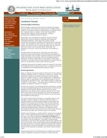 Landlord / Tenant Act - Fair Housing Council of Oregon