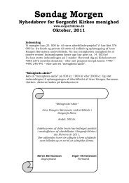 Søndag Morgen 110, oktober 2011 - Sorgenfri Kirke