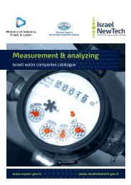 Israeli water companies catalogue for Measurement & Analyzing