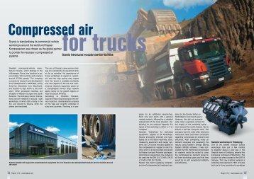 Compressed air for trucks - Kaeser Kompressoren