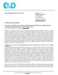 COMMUNIQUE DE PRESSE Focus sur la 5ème édition de ... - CTAD
