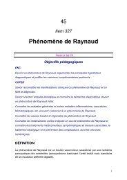 Phénomène de Raynaud - UMVF