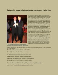 Taekwon-Do Master is Inducted into the 2009 Masters Hall of Fame