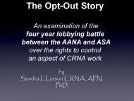 AANA & ASA - California Association of Nurse Anesthetists