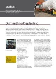 Dismantling/Deplanting