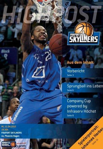 Vorbericht Sprungball ins Leben - Fraport Skyliners