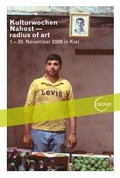 Kulturwochen Nahost — radius of art