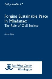 Forging Sustainable Peace in Mindanao: The Role ... - ScholarSpace