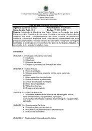 Disciplina: Mecânica dos Solos - Instituto Federal Sul-rio-grandense