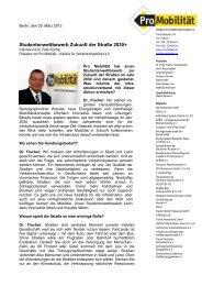 Interview mit Dr. Fischer - Pro Mobilität