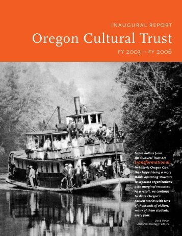 transformational. - Oregon Cultural Trust