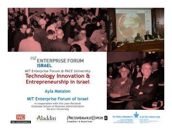 Keynote Speaker Ayla Matalon's presentation (.pdf) - Pace University