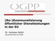 (Re-)Kommunalisierung öffentlicher ... - Renner Institut