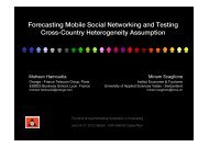 Forecasting Mobile Social Networking and Testing - International ...