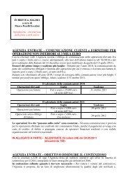 AGENZIA ENTRATE - COMUNICAZIONE CLIENTI e FORNITORI ...