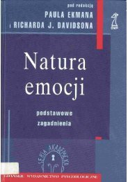 P.Ekman, R.J.Davidson - Natura emocji - Elkar