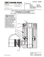 RH121 MDL-A Cylinder SA SR (100829) - SPX