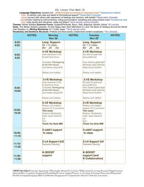 12 ESL Lesson Plan Week 15 pdf - eslriverside