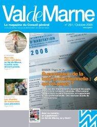 ValdeMarne n° 261 / Octobre 2009 - Conseil général du Val-de-Marne