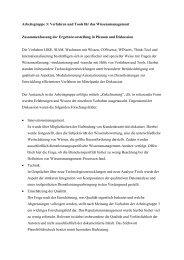 AG 3 - Zusammenfassung der Plenumsdiskussion