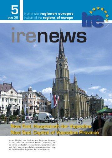 Novi Sad, Hauptstadt der Vojvodina Novi Sad, Capital ... - Institut IRE