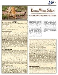 Kenya Wing Safari - Trips