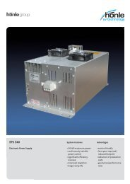 Product information Electronic Power Supply EPS 340 - Dr. Hönle AG