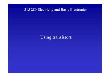 Using transistors