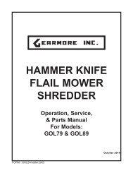 HAMMER KNIFE FLAIL MOWER SHREDDER - Gearmore, Inc.