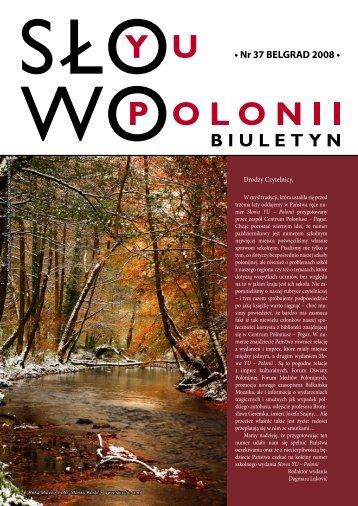• Nr 37 BELGRAD 2008 • - Polonia-serbia.org