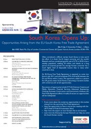 South Korea Opens Up: - London Chamber of Commerce and Industry