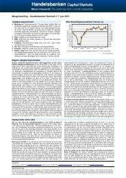 Morgenmelding – Handelsbanken Danmark  7. juni 2013