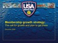 USA Water Polo – Workplan Calendar of key ... - Water Polo Planet