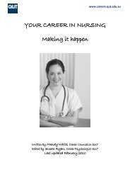 YOUR CAREER IN NURSING - QUT Careers and Employment