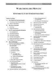 Einführung in den Emissionshandel