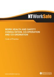 Work Health and Safety Consultation, Co-operation ... - NT WorkSafe