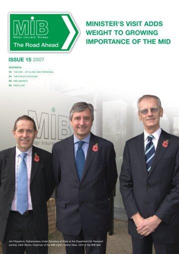 MIB Newsletter - the Motor Insurers' Bureau