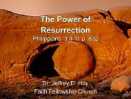 The Power of Resurrection - Faith Fellowship Church