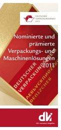 und Maschinenlösungen 2011 - Deutscher Verpackungspreis