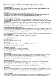 Ausschreibung 24h-Teams (Frauen, Männer, Mix, (Nordic) Walking)