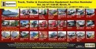 Truck, Trailer & Construction Equipment Auction Reminder - Hess ...