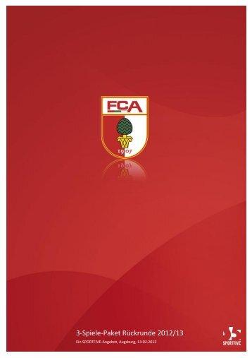 3-Spiele-Paket Rückrunde 2012/13 - B4B Schwaben